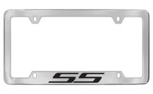 Chevrolet SS Bottom Engraved Chrome Plated Brass License Plate Frame With Black Imprint