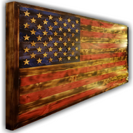 Wooden American Flag, Traditional
