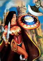 Claudio Aboy Wonder Woman 5 Signed Print