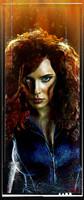 Daniel Murray Black Widow Portrait Signed Pearl Print