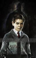 Daniel Murray Gotham Bruce Wayne Portrait Signed Print 8.5x11