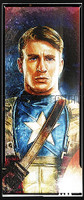Daniel Murray Captain America Portrait Signed Print Matte