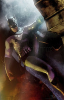 Daniel Murray The Batman Signed Pearl Metallic Print