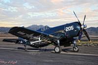 Michael Malak WWII Vintage F4U-4 Corsair Plane Print 11X17