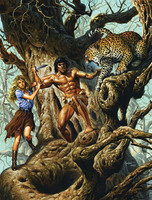 Joe Jusko Battle in the Baobab Signed Print