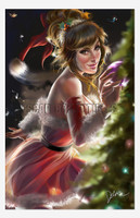 Cris Delara Christmas 2014 Signed Print