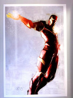 Daniel Murray Avengers Iron Man Flight Signed Print