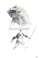 Star Wars Hoth ATAT Signed Print Daniel Murray