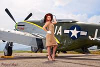 Wings of Angels Malak Ariel WWII P-51D Mustang Print 01