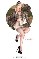 Malak LouLou D'vil WWII Cheesecake Pin Up Print