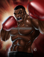 Pete Tapang Iron Mike Signed Print