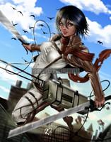 Mikasa Ackerman Signed Print Pete Tapang
