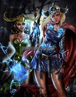 Thor and Loki Signed Print Pete Tapang