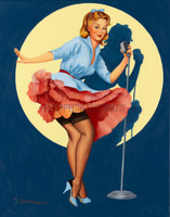 In the Spotlight Vintage Style Pin Up Signed Print Stephenson