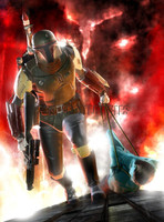 Star Wars Boba Fett Signed Print Murray
