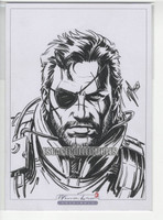 Venom Snake Original Drawing w/COA by Warren Louw