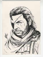 Phantom Pain Snake Original Drawing by Warren Louw