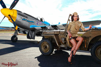 Wings of Angels Jessie's Jeep II Pin Up Print Malak