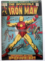 Iron Man Issue #47 New Comic Book Cover Embossed Metal Sign