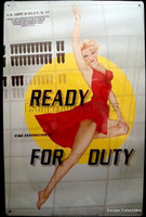 Ready for Duty Pin-Up Nose Art Metal Sign