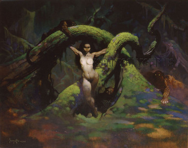 Cat Girl Frank Frazetta