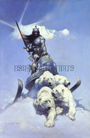 Silver Warrior Print by Frank Frazetta