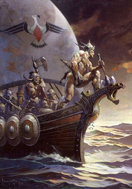 Frazetta Kane On The Golden Sea