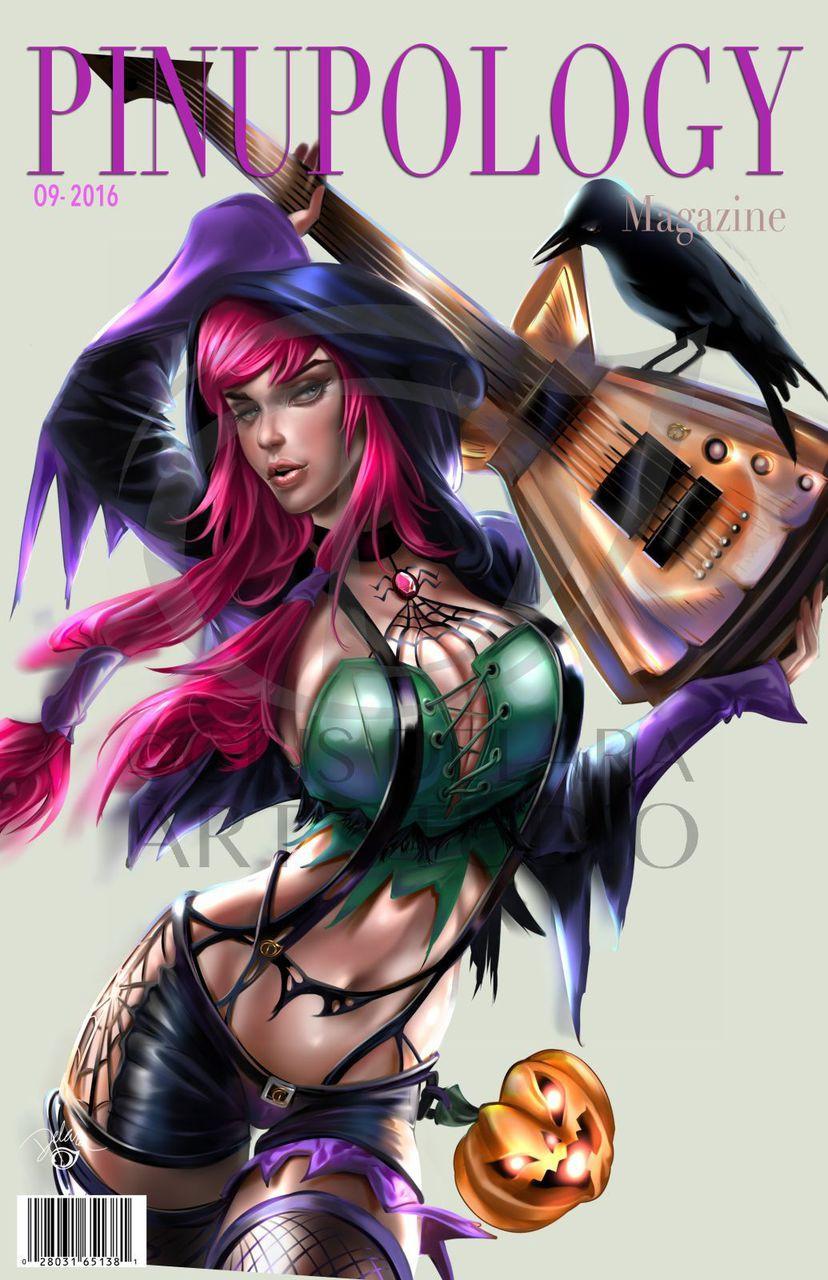 Purple Witch Print Cris Delara ns