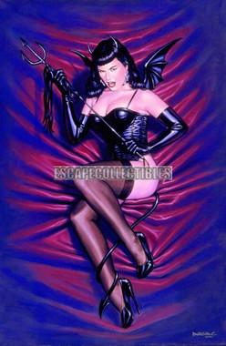 Little Devil Betty Page Image Print