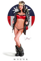 Malak WWII Pin Up Jenn Rox Flying Tigress II Print