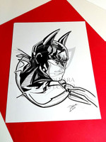 Batman head shot