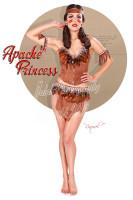 Raquel Pomplun Apache Princess Print Malak