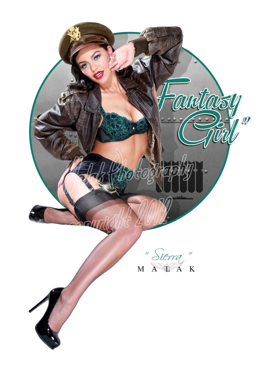 Michael Malak Just The Type Pin Up Girl Cheesecake Giclee Print