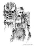 Dave Nestler Nebula & Thanos