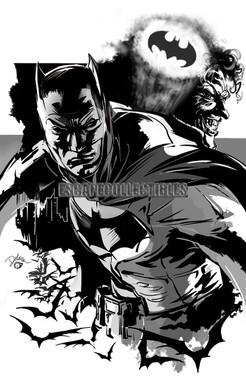 Batman and Joker by Cris Delara