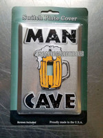 Man Cave Embossed Metal Light Switch Cover