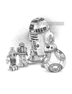 R2D2 and BB8 Star Wars Original