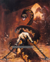Chained Print Frank Frazetta