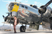 Wings of Angels Malak Caitlin WWII B-17G Flying Fortress Print