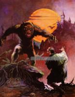 Frazetta Wolfman and Dracula