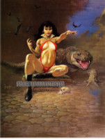 Vampirella and Gator Frazetta