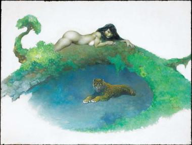 Frazetta Lady Leopard