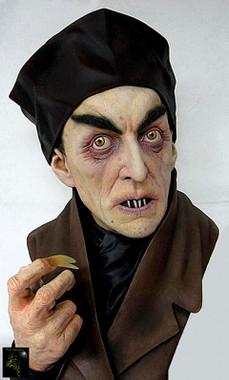 Painted Nosferatu Full  Bust