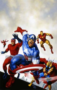 Joe Jusko Avengers #4 Cover Recreation