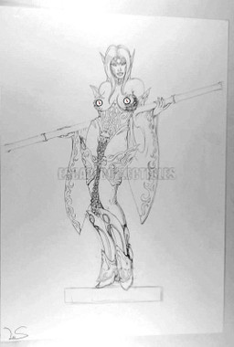 Aurelio Lecis Figure Model Concept Art