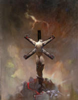 Frazetta Demon Crucified