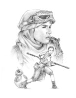Rey - Star Wars Original Art
