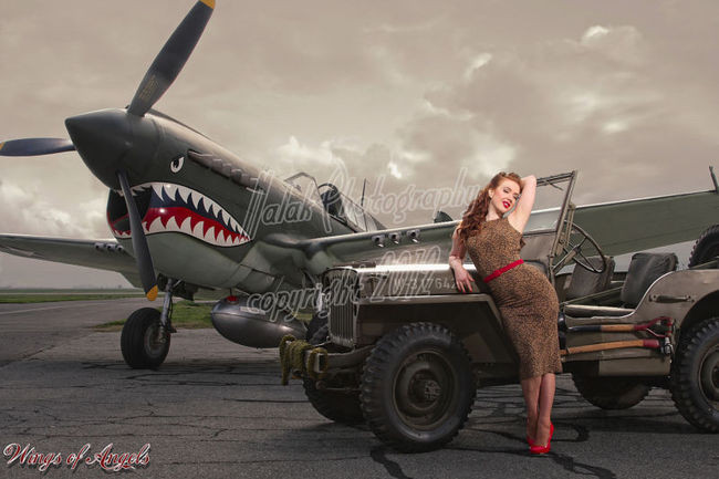 Wings of Angels Series Michael Malak Jessamyne Rose WWII P-40E Warhawk