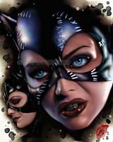 Pete Tapang Meow Catwoman Signed Pin Up Art Print 11x14