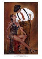 Ray Leaning Tango Cortina Limited Signed and Numbered Giclee Dance Art Print 17X25